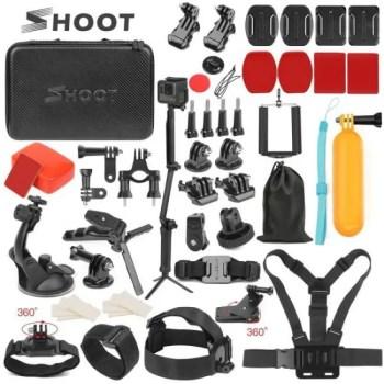 FREE SHIPPING SHOOT Action Camera Accessory for GoPro Hero 7 6 5 4 Black Xiaomi Yi 4K Lite 2 SJCAM SJ7 Eken H9 Go Pro Mount for Sony Nikon Set Free shipping