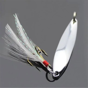 FREE SHIPPING 1Pcs 5g/7g/10g/13g/18g/21g Metal Fishing Lure Spoon Sequins Spinner with Feather Hard Bait For Sea lake lure Tool Wobblers 2019