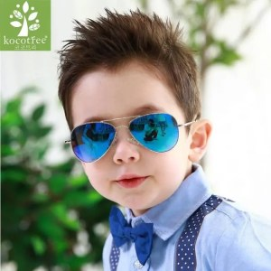Car & Motorbike Kocotree Fashion Kids Aviator Sunglasses Kids Boys Girls Classic Design Silver Frame Blue Lens Pilot Sun Glasses For Children American