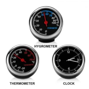 Accessories Mini Car Automobile Digital Clock Auto Watch Automotive Thermometer Hygrometer Decoration Ornament Clock In Car Accessories Accessories
