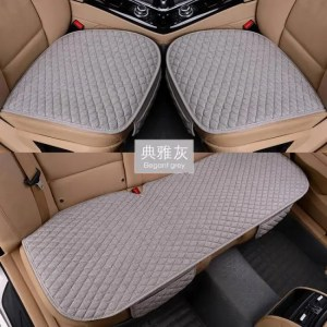 Covers Linen Fabric Car Seat Cover Four Seasons Front Rear Flax Cushion Breathable Protector Mat Pad Auto accessories Universal Size Accessories