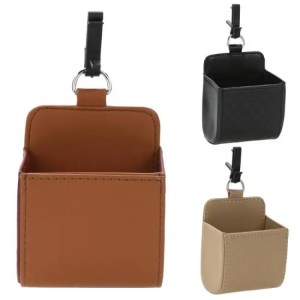 Accessories Car Outlet Vent Seat Back Tidy Storage Box PU Leather Coin Bag Case Pocket Organizer Hanging Holder Pouch Automobile Accessories Accessories