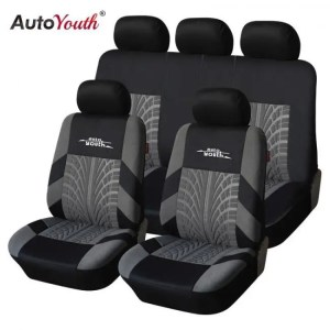 Covers AUTOYOUTH Brand Embroidery Car Seat Covers Set Universal Fit Most Cars Covers with Tire Track Detail Styling Car Seat Protector Auto