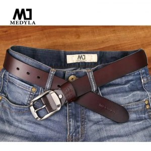 FREE SHIPPING MEDYLA Dropship High Quality Genuine Leather Luxury Strap Male Belts For Men Jeans Casual Belt Pin Buckle Masculine Cummerbund Free shipping