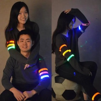 FREE SHIPPING Outdoor Sports Night Running Light Safety Jogging Led Arm Leg Warning Wristband Cycling Bike Bicycle Party luces bicicleta discount