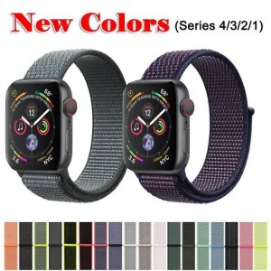 Smart Band For Apple Watch Series 3/2/1 38MM 42MM Nylon Soft Breathable Replacement Strap Sport Loop for iwatch series 4 40MM 44MM discount