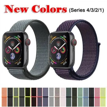 FREE SHIPPING Band For Apple Watch Series 3/2/1 38MM 42MM Nylon Soft Breathable Replacement Strap Sport Loop for iwatch series 4 40MM 44MM discount