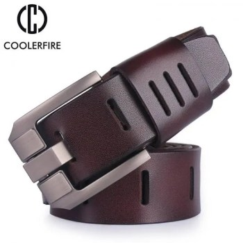 FREE SHIPPING Cowhide genuine leather belts for men brand male pin buckle jeans cowboy Mens Belt Luxury Designer High Quality Leather belt men Free shipping