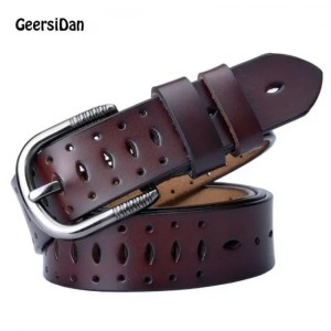 FREE SHIPPING GEERSIDAN Good Women belts cow genuine leather pin buckle vintage style top quality newest luxury female strap original Belt