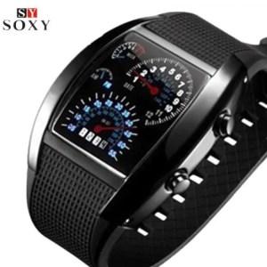 FREE SHIPPING Fashion Men's Watch Unique LED Digital Watch Men Wrist Watch Electronic Sport Watches Men Clock relogio masculino reloj hombre [tag]