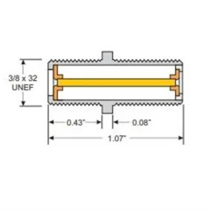 DTVF81I-05 Conn, Barrel Indoor, 50 pc bag 3GHZ-High Freq, Nut/Washer