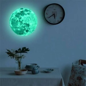 FREE SHIPPING 20cm Luminous Moon Earth Cartoon DIY 3D Wall Stickers for Kids Room Bedroom Glow In The Dark Wall Sticker Home Decor Living Room free