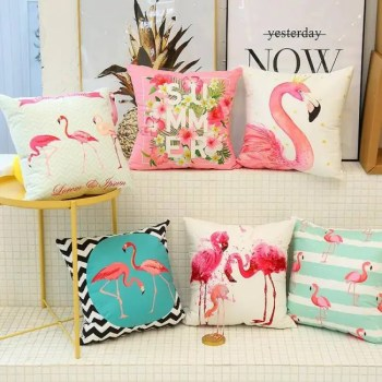FREE SHIPPING New Cute Flamingo Cushion Pillow Case Flamingo Party Bedroom Sofa Home Decoration accessories Birthday/Wedding Favors and Gifts Accessories