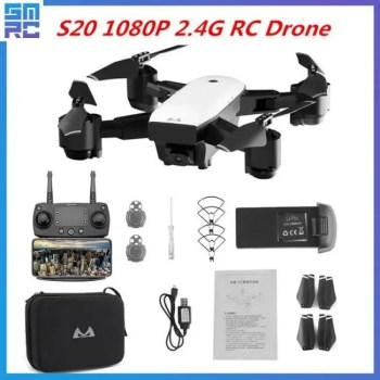 FREE SHIPPING SMRC S20 Drone With HD 1080P Wifi Camera Quadrocopter Hovering FPV Quadcopters 5MP Folding RC Helicopter Storage bag toy for boy free