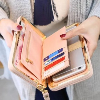 FREE SHIPPING Women's Leather Wallet with Bow [tag]