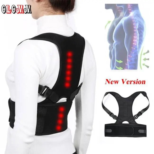 2d8214b18ee FREE SHIPPING Posture Corrector Corset Back Brace Belt Lumbar Support Adults
