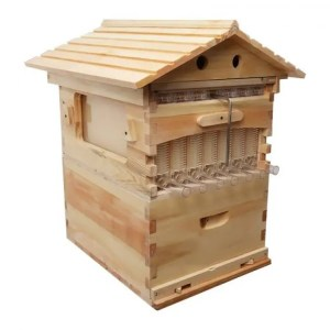 FREE SHIPPING Beekeeping Wooden Beehive Box With 7 Honey Self Flowing Frames bee
