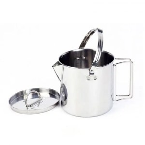 FREE SHIPPING 1.2L Outdoor Stainless Steel Kettles Camping Portable Boil Water Hanging Pot Hot Soup Coffee Tableware 1.2L