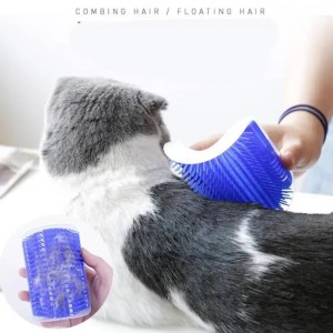 FREE SHIPPING Cat Self Grooming Hair Accessorie With Catnip Angle Face Tickling Hair Removal Massage Brush Comb And Pet Dog Cat Grooming Glove Brush