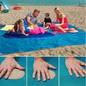 FREE SHIPPING Beach Mat Magic Sand Free Outdoor Travel Summer Vacation Camping Beach