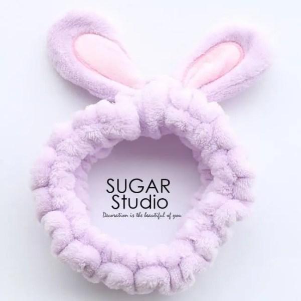 FREE SHIPPING Cute Soft Rabbit Ears Hair Band Velvet Cartoon Wide Brimmed Headband Ornaments For Girls 1pcs