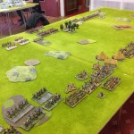 View from the Celts across the Roman front