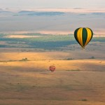 The altitude can vary during the course of the balloon ride