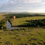 To make the most of the ride hot-air balloon safaris are best when the weather is calmest at sunrise