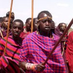 Masai practice piercing and stretching of earlobes