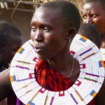 Maasai families live in an enclosure