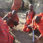 Maasai families live in enclosures which contains ten to twenty small huts and is protected by fences or bushes