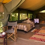 Traditional luxury camps blend international sophistication with African beauty