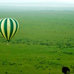 A drive in a safari vehicle is much rougher than the few bumps while landing a hot-air balloon