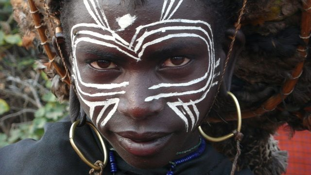 Maasai beads, shields and dressing are symbols of their rich