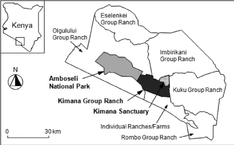 Map of Loitokitok district