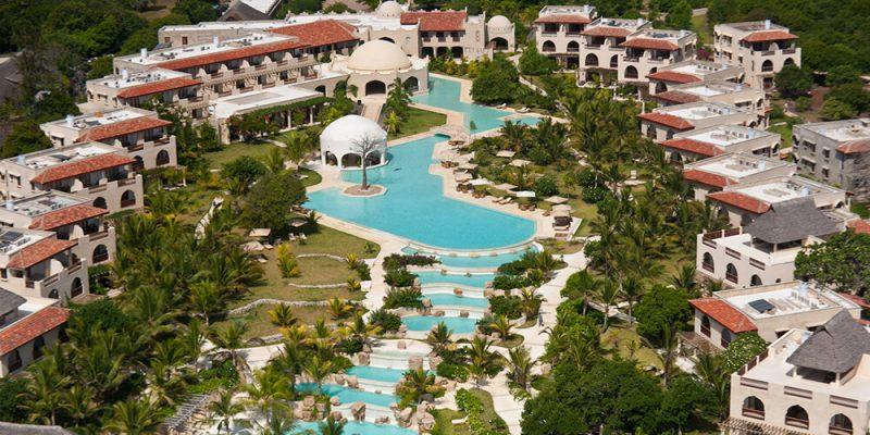 Aerial view of Swahili Beach Resort