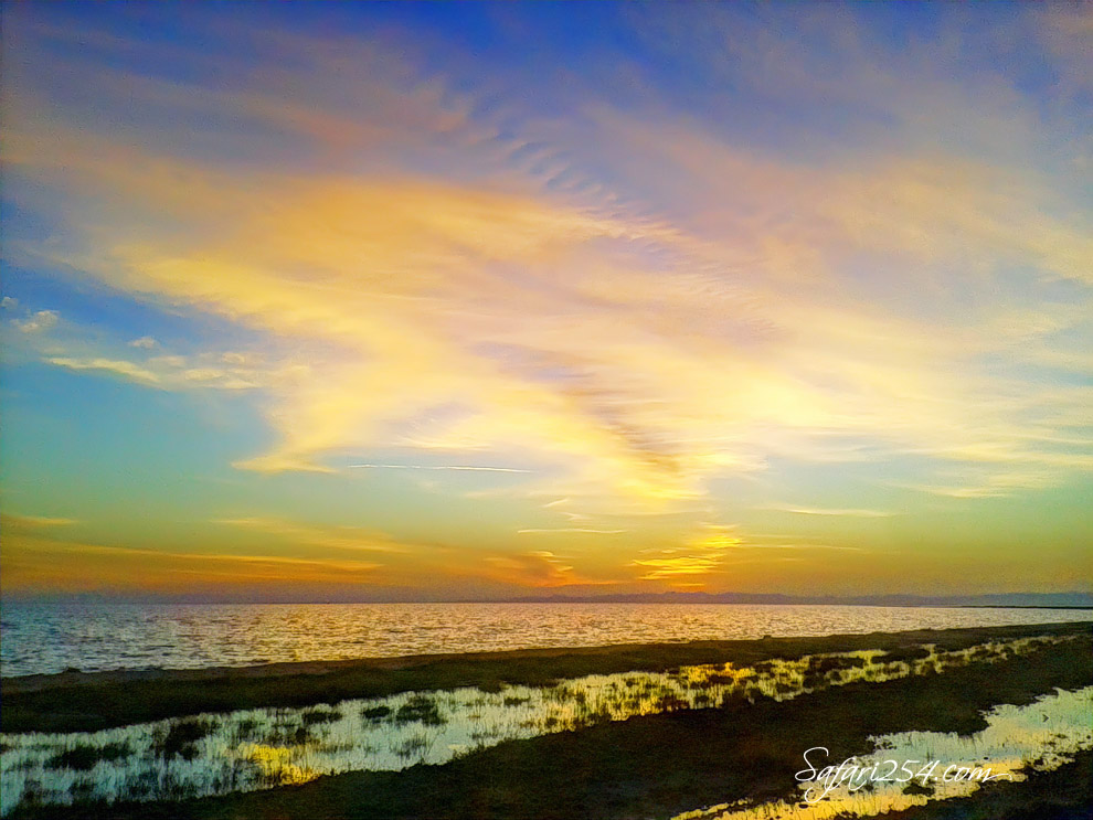 Koobi Fora Camp_Lake Turkana Sunset_green hues