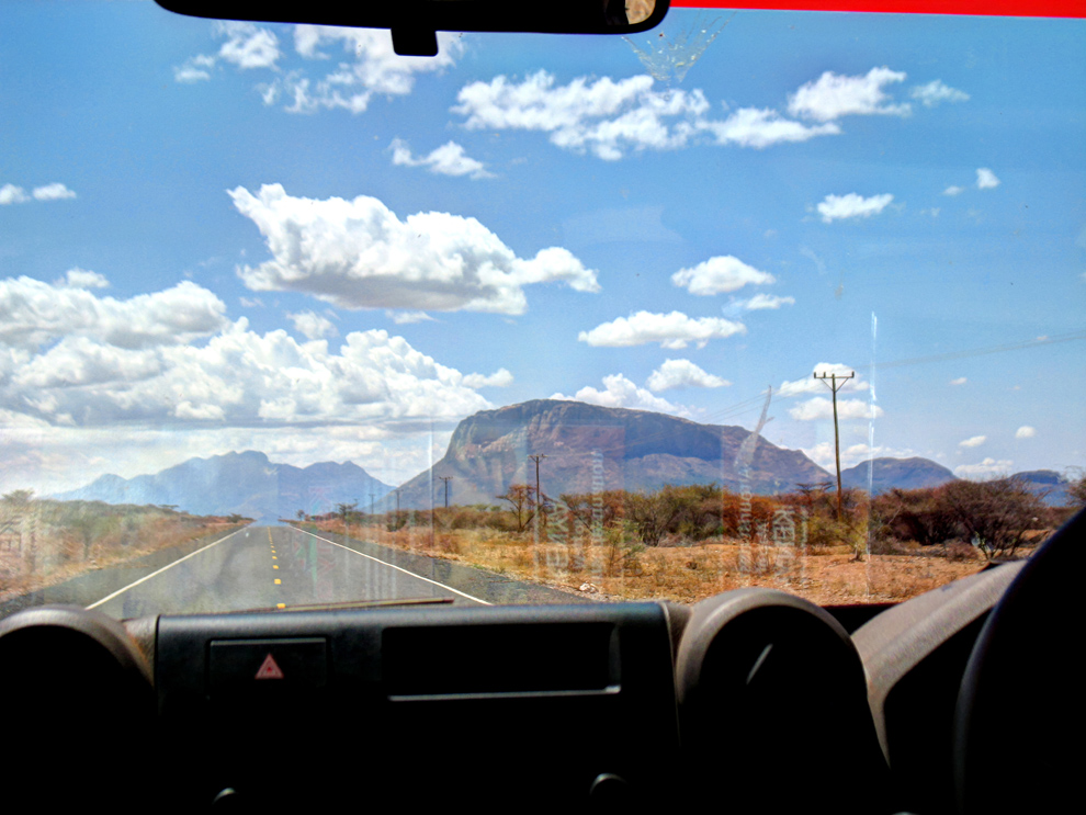 Marsabit County_View of Mt.Ololokwe along the A2