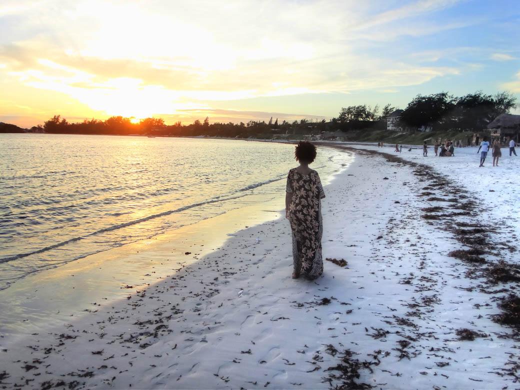Watamu beach_facing sunset