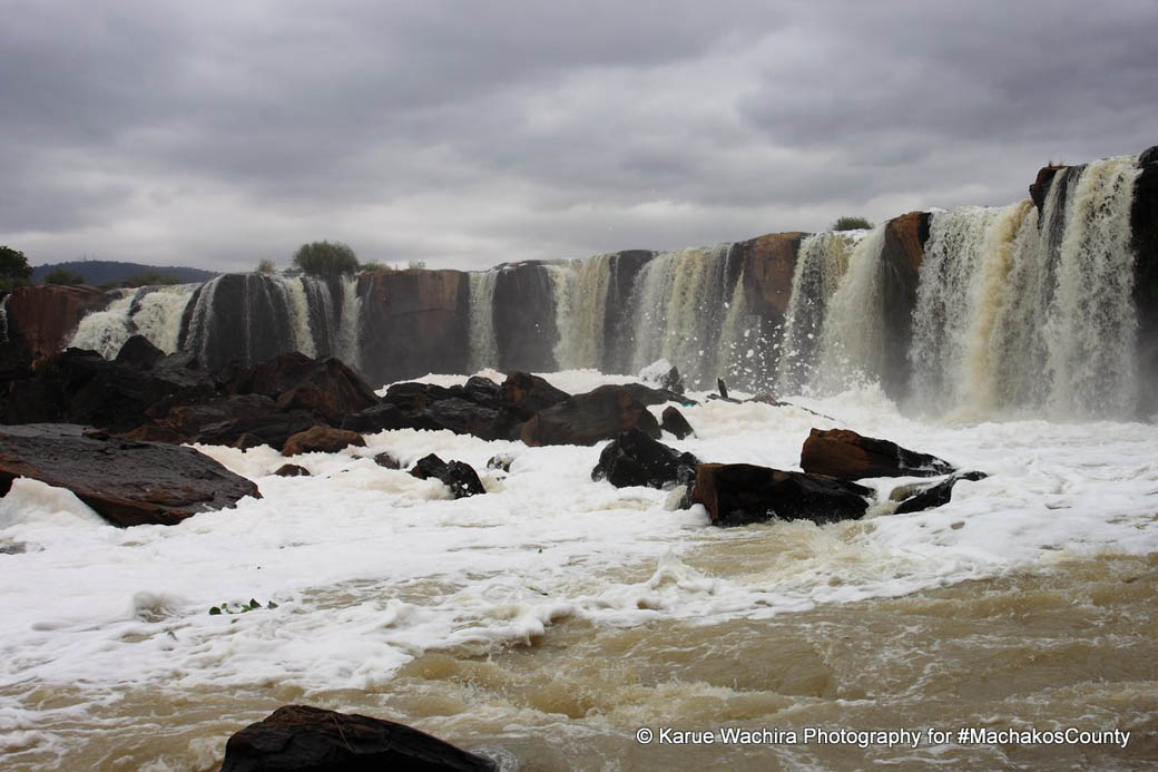 The day was overcast during my visit to the Fourteen Falls