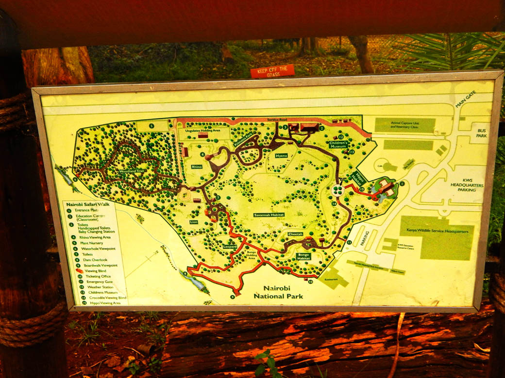 Nairobi Safari Walk_map