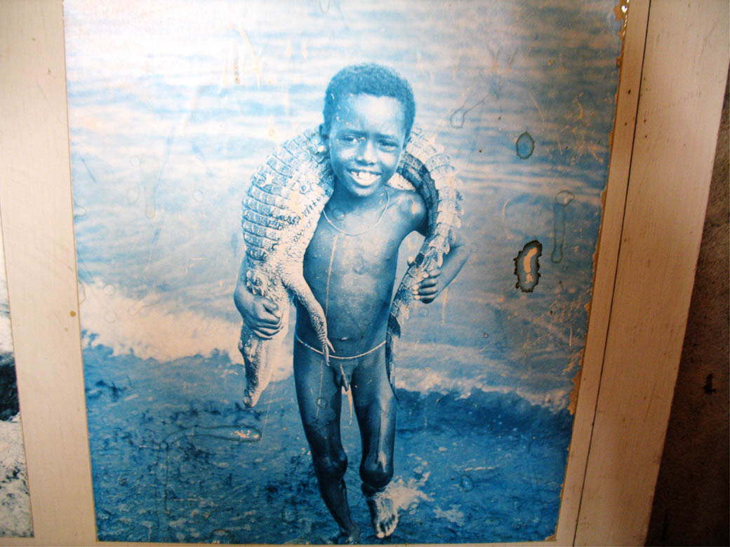 Koobi Fora Museum_Child with crocodile