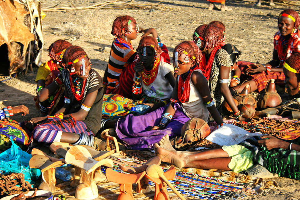 Nothern Kenya People and Places_Dasanaach girls
