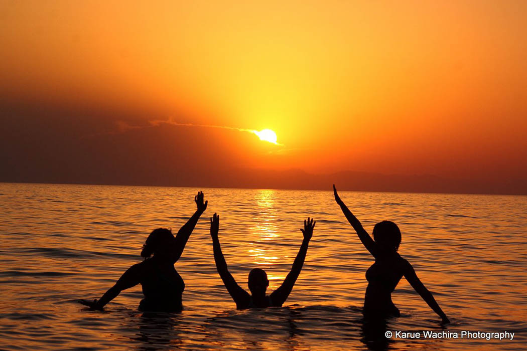 Nothern Kenya People and Places_swimming in Lake Turkana