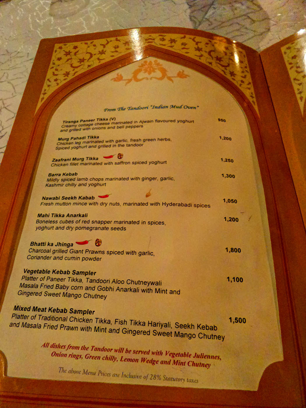 Bhandini Restaurant review_menu1