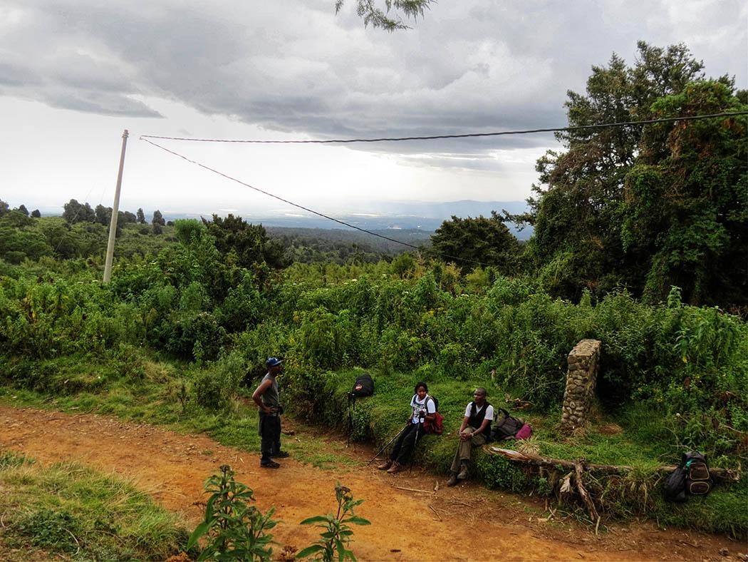Mount Kenya_beginning hike