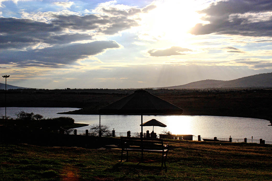 Machakos People's Park_Bench overlooking lake