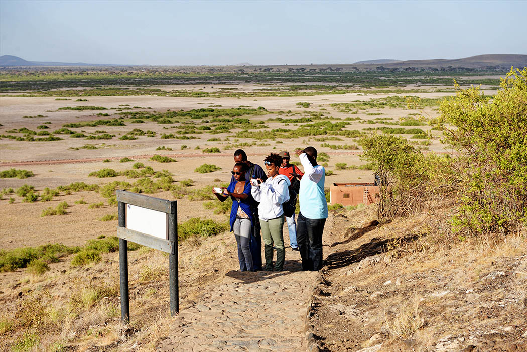 Amboseli Serena Safari Lodge_Walking up observation Hill