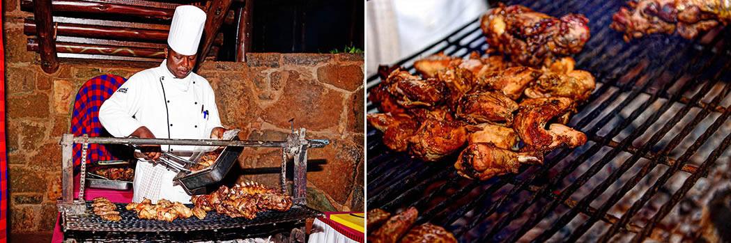 Kilaguni Serena safari Lodge_chef and roast chicken