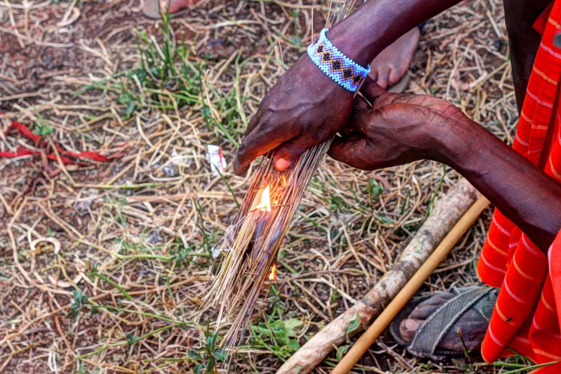 Maasai Mara_Man making fire3